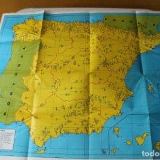 Mapas contemporáneos: MAPA TELEVISION ESPAÑA, REVISTA ESPAÑOLA DE ELECTRONICA, EMISORES Y REMISORES. Lote 179242627