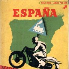 Mapas contemporáneos: MAPA DE COMUNICACIONES DE ESPAÑA SEIX BARRAL C. 1930 80X110 CM. EN COLOR. Lote 179316721