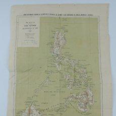 Mapas contemporáneos: MAPA DE LAS ISLAS FILIPINAS Y ARCHIPIELAGO DE JOLO, AÑO 1890, LIT. HENRICH Y C.ª EN COM.(SUCESORES N. Lote 180088852