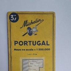 Mapas contemporáneos: MAPA MICHELIN DE 1965, PORTUGAL Nº 37 NA ESCALA 1:500.000.. Lote 180148697