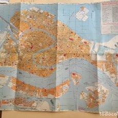 Mapas contemporáneos: MAPA DE VENECIA AÑOS 70. Lote 180413002