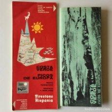 Mapas contemporáneos: MAPA TURISTICO FIRESTONE HISPANIA - COSTA VERDE PICOS DE EUROPA - AÑO 1965 + FOLLETO GUIA. Lote 180444828