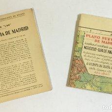 Mapas contemporáneos: GUIAS 'LES'. PLANO-GUÍA DE MADRID 1940.. Lote 180952425