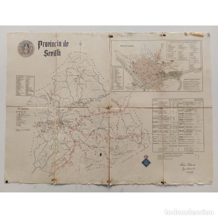 Mapa Carreteras Provincia De Sevilla Fondo De Comprar Mapas