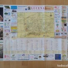 Mapas contemporáneos: PLANO MAPA COMERCIAL DE LUCENA (CORDOBA) PUBLICIDAD. Lote 181715023