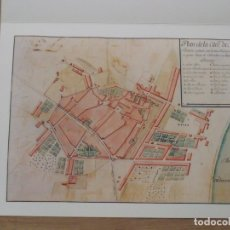 Mapas contemporáneos: MATARÓ L'ANY 1713. EL PRIMER PLÀNOL DE LA CIUTAT. 1989. NUMERADO 69/500. REPRODUCCIÓN. BUEN ESTADO.. Lote 181729221