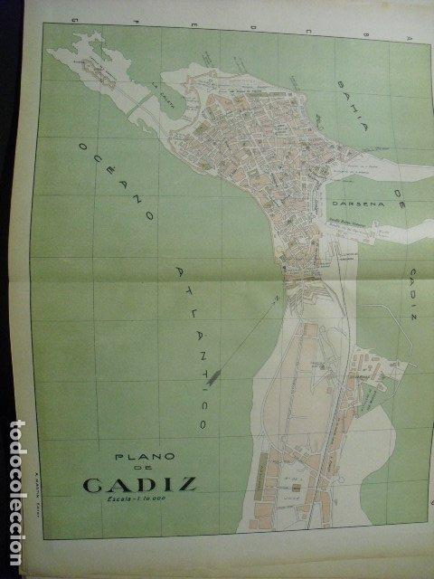 1900 PLANO DE CADIZ (Coleccionismo - Mapas - Mapas actuales (desde siglo XIX))