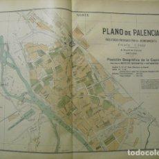 Mapas contemporáneos: 1900 PLANO DE PALENCIA. Lote 182002918