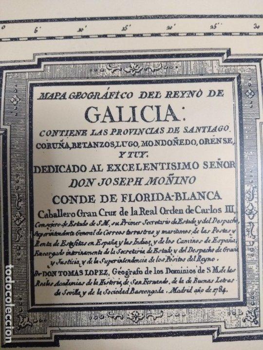 Mapas contemporáneos: Mapa de galicia de 1784 (Reproducción) - Foto 4 - 182241547