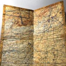 Mapas contemporáneos: ANTIGUO MAPA DE ESPAÑA DE AVIACIÓN DE UN COMANDANTE DE IBERIA ···CON ANOTACIONES DE SUS RUTAS. Lote 182304462