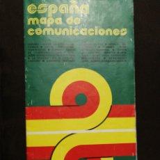 Mapas contemporáneos: MAPA OFICIAL COMUNICACIONES ESPAÑA 1974. Lote 182550111