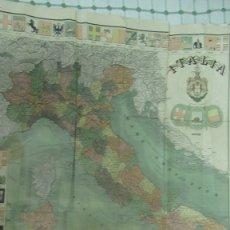 Mapas contemporáneos: MAPPA D`ITALIA. ANTONIO VALLARDI EDITORE MILANO ROMA. AÑO 1905. 98 X67 CM MAPA DE ITALIA. Lote 183042667