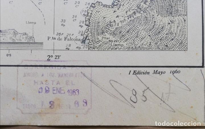 Mapas contemporáneos: Mapa Puerto de Andratx (MALLORCA) Ins. Hidrográfico de la Marina. Cadiz 1890 con correcciones 1960 - Foto 3 - 183177118