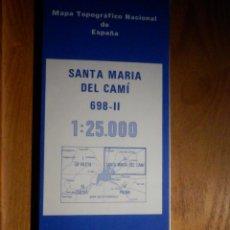 Mapas contemporáneos: MAPA SANTA MARÍA DEL CAMÍ - MALLORCA, INST GEOGRÁFICO NACIONAL 1987, 998-II, 52 CM X 77 CM -1/25.000. Lote 184223445