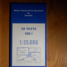 Mapas contemporáneos: MAPA TOPOGRÁFICO DE SA VILETA, PALMA , INST GEOGRÁFICO NACIONAL 1985, 698-I, 52 CM X 77 CM -1/25.000. Lote 184223630