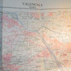 Mapas contemporáneos: MAPA TOPOGRÁFICO VALENCIA-I INST GEOGRÁFICO NACIONAL 1975, 722-I 54 CM X 77 CM -1/25.000. Lote 184224903