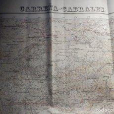 Mapas contemporáneos: MAPA TOPOGRÁFICO - CARREÑA-CABRALES SANTANDER I.GEOGRÁFICO NACIONAL 1943, 56, 50 CM X 70 CM 1/50.000. Lote 184233313