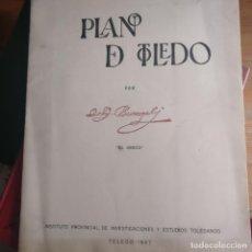Mapas contemporáneos: PLANO DE TOLEDO. 1967. INSTITUTO DE INVESTIGACIONES Y ESTUDIOS TOLEDANOS. 30 PP VER FOTOS. Lote 184526298