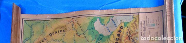 Mapas contemporáneos: EUROPA MAPA FÍSICO. MAPA ESCOLAR. LIBRERÍA Y CASA EDITORIAL HERNANDO. MADRID, 1960. - Foto 2 - 184636902