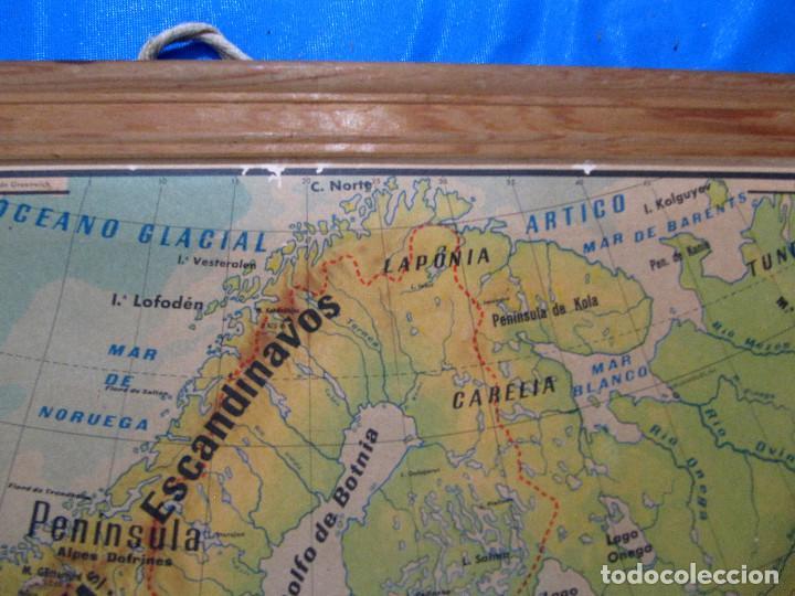Mapas contemporáneos: EUROPA MAPA FÍSICO. MAPA ESCOLAR. LIBRERÍA Y CASA EDITORIAL HERNANDO. MADRID, 1960. - Foto 4 - 184636902
