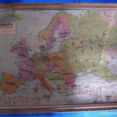 Mapas contemporáneos: EUROPA MAPA POLÍTICO. MAPA ESCOLAR. LIBRERÍA Y CASA EDITORIAL HERNANDO. MADRID, 1962.. Lote 184637592