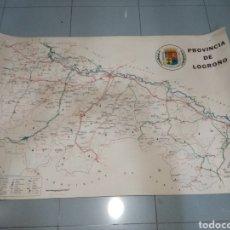 Mapas contemporáneos: MAPA DE LA PROVINCIA DE LOGROÑO. ANTES DE QUE LA RIOJA FUERA PROVINCIA.. Lote 184658105