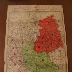 Mapas contemporáneos: MAPA DE ALEMANIA. POSGUERRA. ZONAS DE OCUPACIÓN. 1:2250000. 43X30 CM.. Lote 184663036