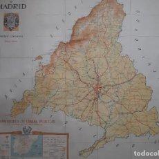 Mapas contemporáneos: ANTIGUO MAPA PROVINCIA MADRID 1946, MINISTERIO OBRAS PUBLICAS CARTOGRAFIA PLANO, DIBUJO TERRADILLOS. Lote 184775006