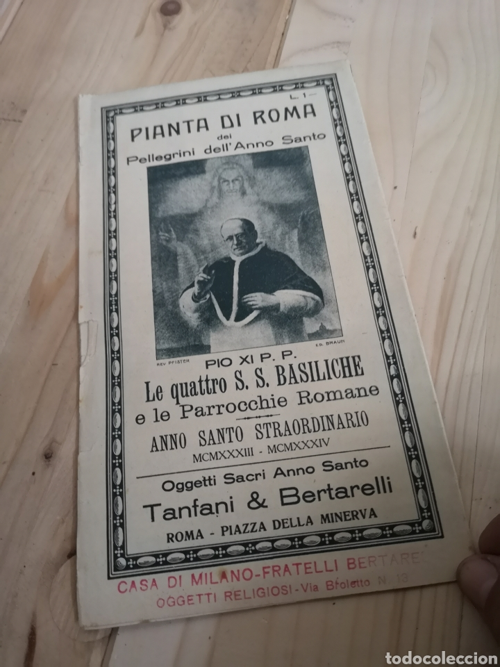 Mapas contemporáneos: Curioso y antiguo guía plano de Roma - Foto 2 - 185709245