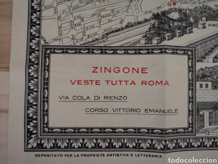 Mapas contemporáneos: Curioso y antiguo guía plano de Roma - Foto 3 - 185709245