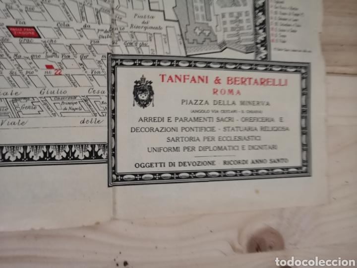 Mapas contemporáneos: Curioso y antiguo guía plano de Roma - Foto 4 - 185709245