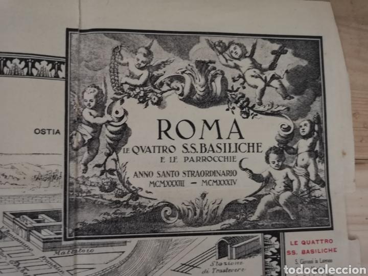Mapas contemporáneos: Curioso y antiguo guía plano de Roma - Foto 5 - 185709245