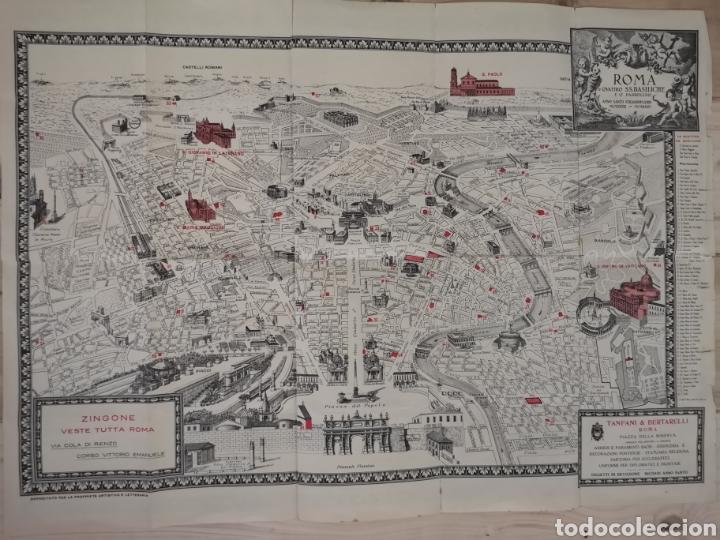 CURIOSO Y ANTIGUO GUÍA PLANO DE ROMA (Coleccionismo - Mapas - Mapas actuales (desde siglo XIX))