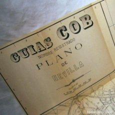 Mapas contemporáneos: PLANO DE LA RED DE TRANVÍAS DE SEVILLA + PLANO DE SEVILLA GUÍAS COB, 1929. Lote 185991206