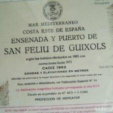 Mapas contemporáneos: MAPA ENSENADA Y PUERTO SAN FELIU DE GUIXOLS-MARCO Y VIDRIO-COSTA ESTE ESPAÑA-MAR MEDITERRANEO-1981.. Lote 186138458