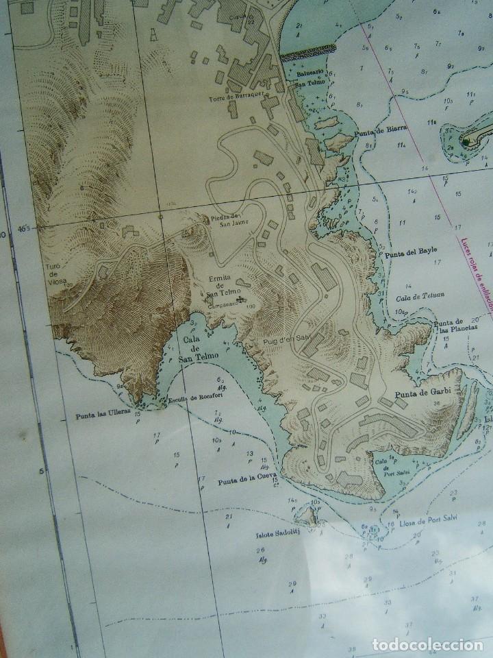 Mapas contemporáneos: MAPA ENSENADA Y PUERTO SAN FELIU DE GUIXOLS-MARCO Y VIDRIO-COSTA ESTE ESPAÑA-MAR MEDITERRANEO-1981. - Foto 3 - 186138458