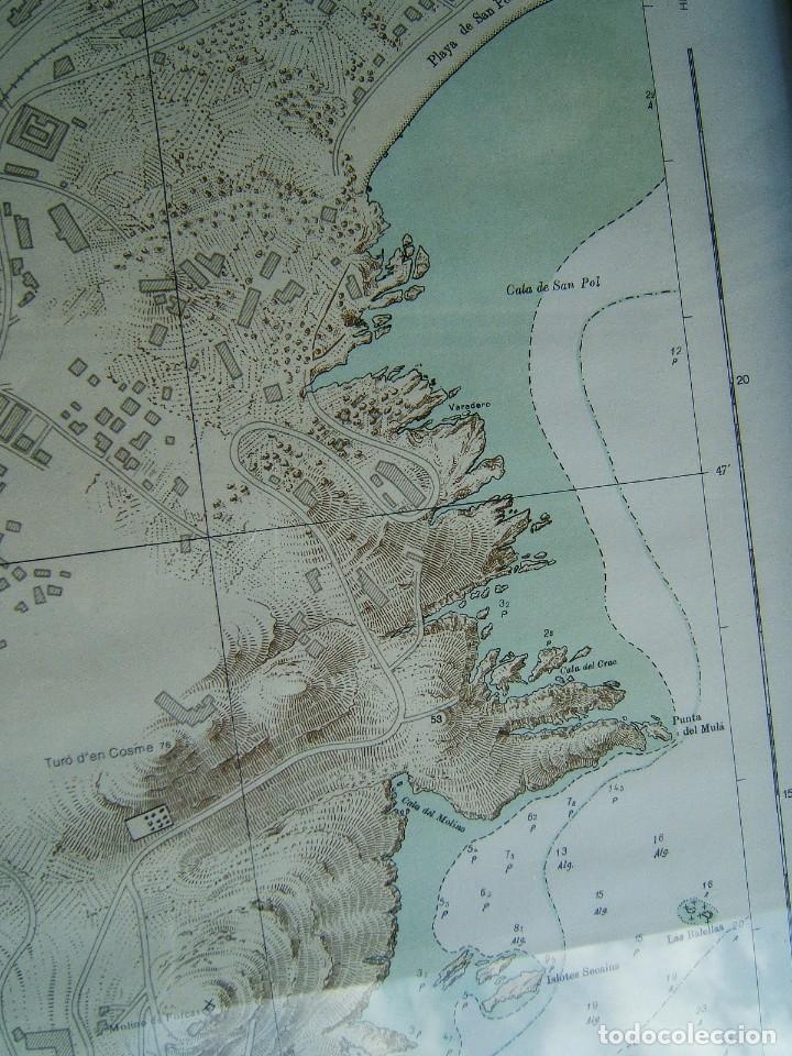 Mapas contemporáneos: MAPA ENSENADA Y PUERTO SAN FELIU DE GUIXOLS-MARCO Y VIDRIO-COSTA ESTE ESPAÑA-MAR MEDITERRANEO-1981. - Foto 5 - 186138458