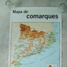 Mapas contemporáneos: MAPA DE COMARQUES DE CATALUNYA-GIRONES-LA SELVA-RIPOLLES-EMPORDA-VALLES-BAGES...-SANTILLANA-AÑOS 90.. Lote 186145927