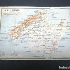 Mapas contemporáneos: MAPA ISLA DE MALLORCA - WAGNER & DEBES C.1900. Lote 186175907