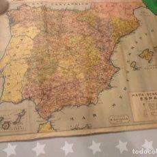 Mapas contemporáneos: ANTIGUO MAPA DE ESPAÑA M. ESPINOSA DE VIGO AÑOS 30 MIDE 65X50 CMS. Lote 186344867