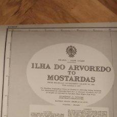 Mapas contemporáneos: CARTA NÁUTICA ILMA DO ARVOREDO TO MOSTARDAS BRASIL. Lote 186349997