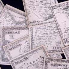 Mapas contemporáneos: LAS 15 REGIONES DE ESPAÑA SEGÚN DIVISIÓN TERRITORIAL DE 1833. Lote 187301960