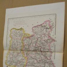 Mappe contemporanee: MAPA PROVINCIAS DE BURGOS Y PALENCIA. JOSE ANTONIO ELIAS. GRABADO POR R. ALABERN Y E. MABON. 1848. Lote 187320472