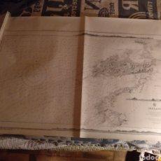 Mapas contemporáneos: MAPA DE IRLANDA, KERRY HEAD TO VALENCIA 71,5X103 CM, FACSÍMIL DEL ORIGINAL DE 1858. Lote 188594380