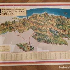 Mapas contemporáneos: MAPA OROGRAFICO DE VIZCAYA - CAJA DE AHORROS VIZCAINA 1976.. Lote 189311523