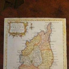 Mapas contemporáneos: ANTIGUO MAPA O PLANO DE LA ISLA DE CORCEGA EN INGLES STRAITS OF BONIFACIO. Lote 189808202