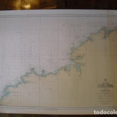 Mapas contemporáneos: 1970 CARTA NAUTICA DE CABO TOURIÑANA A ESTACA DE VARES. Lote 189921811