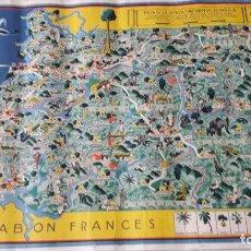 Mapas contemporâneos: ANTIGUO MAPA DE LA GUINEA CONTINENTAL ESPAÑOLA. Lote 190059890