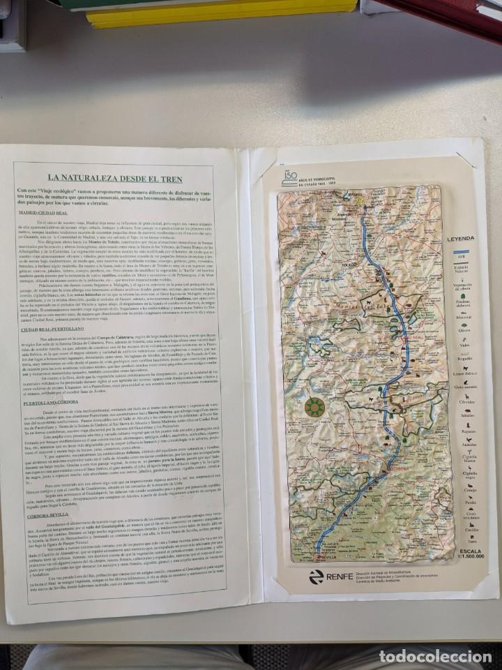1997 RENFE FERROCARRILES MAPA PLASTICO EN RELIEVE LINEA ALTA VELOCIDAD MADRID SEVILLA (Coleccionismo - Mapas - Mapas actuales (desde siglo XIX))