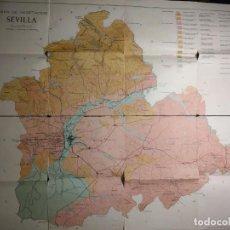 Mapas contemporáneos: MAPA DE VEGETACIÓN DE LA PROVINCIA DE SEVILLA. 1962. INSTITUTO A. J. CAVANILLES. C.S.I.C.. Lote 190707825